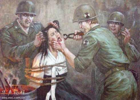 漫画披露美军在朝鲜暴行组图